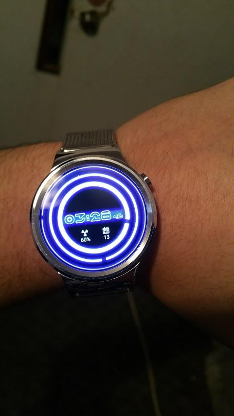 Glowing ElecTRONic Watch Face- screenshot