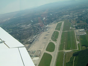 Photo: We flew just over the airport; perfect view of the concrete and grass runways http://www.swiss-flight.net