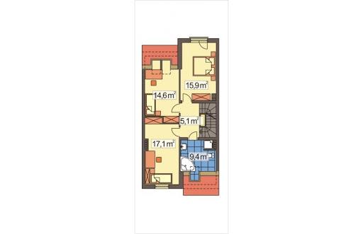 Mozaika segment środkowy - Rzut piętra