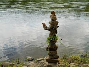 Photo: Вот... соорудил такое чудо на берегу р.Тасеева, в самом начале.