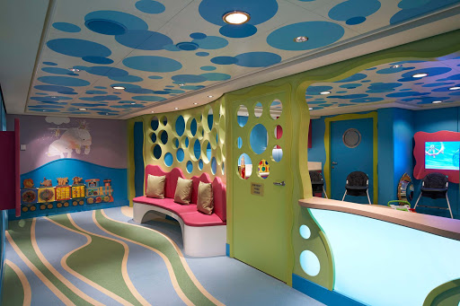 Norwegian-Escape-Guppies-Nursery - With the first-ever Norwegian nursery on Norwegian Escape, parents of tots  between 6 months and three years old are being well supervised by dedicated staff.