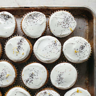 Maple Tahini Cupcakes With Labneh Frosting.