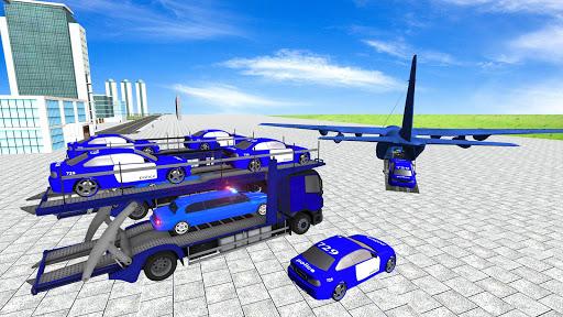 Coche de limusina de la policía estadounidense: capturas de pantalla del juego ATV Quad Transporter 5