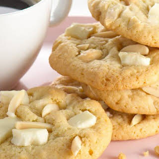 Almond White Chocolate Chunk Cookies.