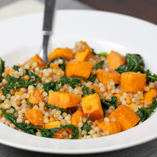 Lemon Couscous with Sweet Potato and Kale