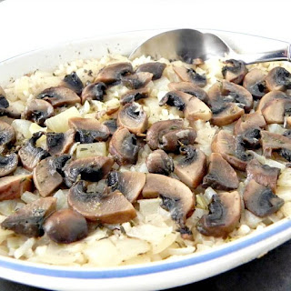 Easy Baked Rice With Mushrooms And Onion