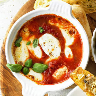 Baked Mozzarella and Tomato-Basil Antipasti.