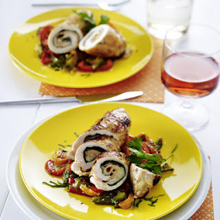 Chicken Roulade with Roasted Peppers.
