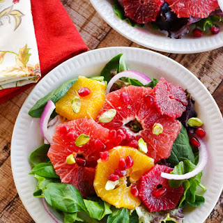 Winter Sweet Citrus Salad with Pomegranate & Pistachios