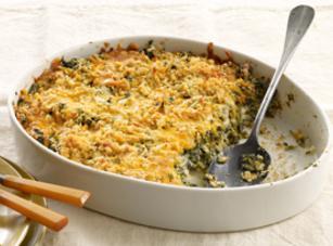 Crispy-topped Spinach Casserole Recipe