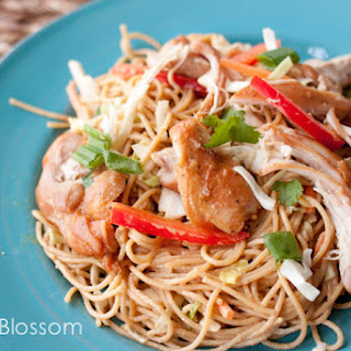 Peanut Noodles With Sweet & Sticky Chicken
