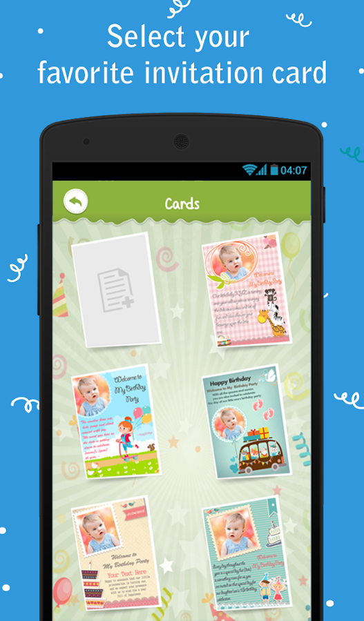 Birthday Party Invitation Android Apps on Google Play