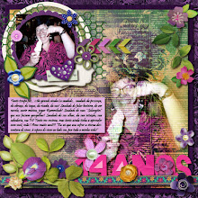 Photo: A lot of flowers by Mari R. Handcut paper alpha by Lili Font Pristina PS CS5