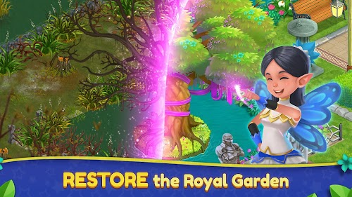 Screenshot 1 Royal Garden Tales - Match 3 Puzzle Decoration 0.8.3-DEV APK MOD