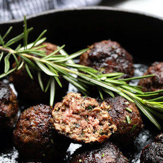 Rosemary Thyme Balsamic Meatballs.