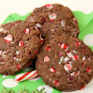 Peppermint Bark Chocolate Crackle Cookies