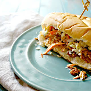 Slow Cooker Mexican BBQ Chicken Sandwiches.