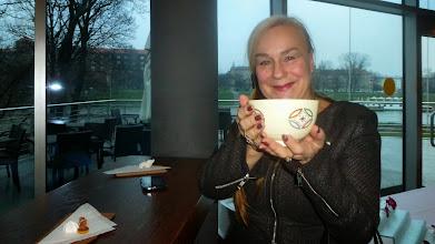Photo: Popijając zieloną herbatę