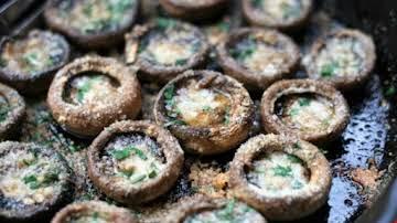 Garlic-Butter Roasted Mushrooms Recipe