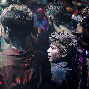 Holi 2013 : A Colored Candid by Rahat Amin - People Street & Candids ( faces, colors, candid, enjoy, celebration, holi, fun, nikon, d5100, people )