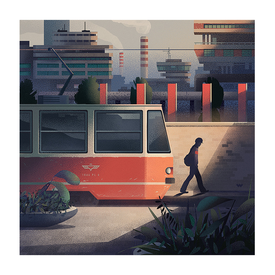 Eastern block tram crane Bloc communism