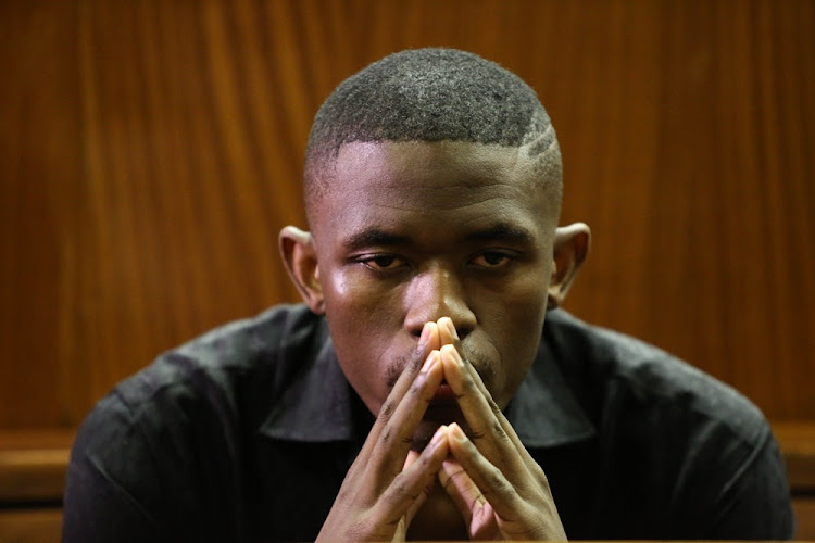 Sandile Mantsoe at the South Gauteng High Court on May 3 2018. He was sentenced to more than 30 years in jail for the murder of Karabo Mokoena. File photo.