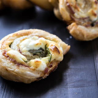 Pancetta and Spinach Pinwheels.