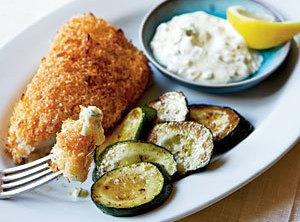 Crispy Fish With Lemon-dill Sauce Recipe