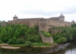 Photo: This castle is in Russia directly across the river from Estonia's Narva Castle.