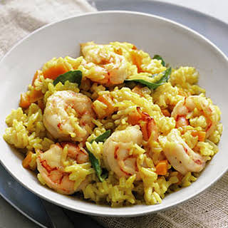 Curried Rice with Shrimp.