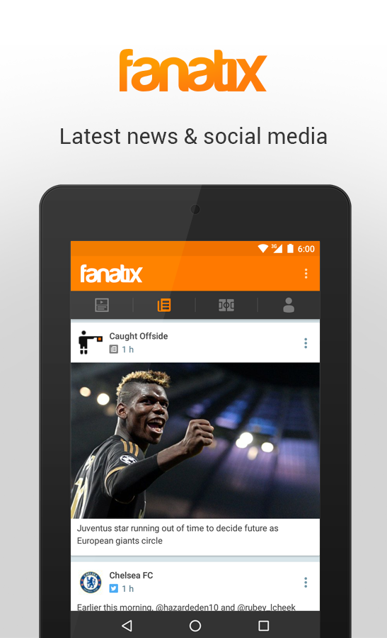 fanatix- screenshot