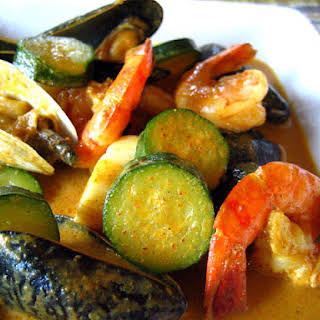 Thai Yellow Curry with Seafood.