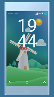 Windmill ND Xperia Theme - náhled