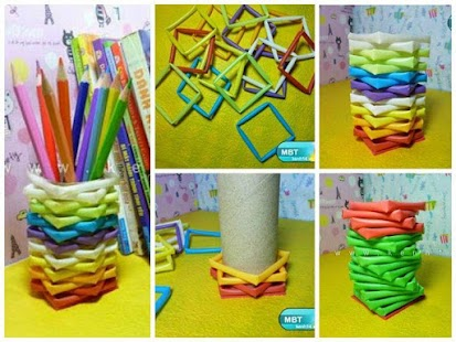 Handicraft From Drinking Straws - náhled