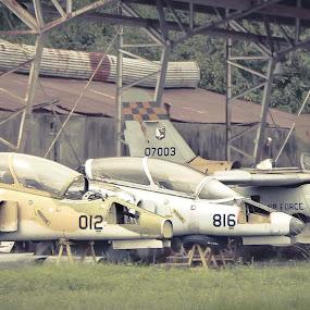 Junkyard by Eric Dimaano - Transportation Airplanes