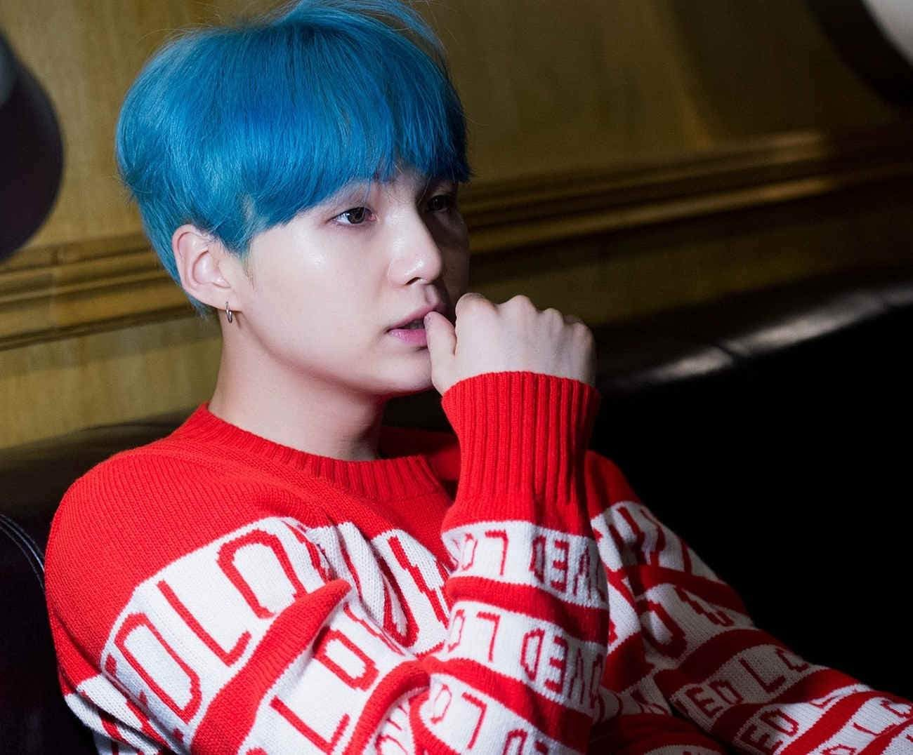 Bts Suga Blue hair