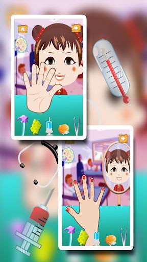 女の赤ちゃんの手のドクターキッドゲーム