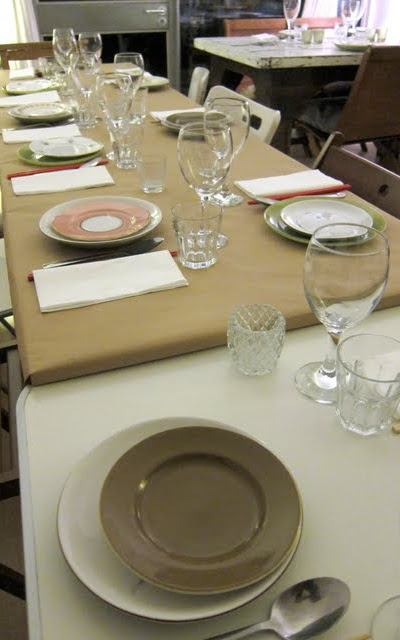 Long table at a Supper Club in London