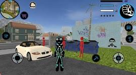 screenshot of Neon Iron Stickman Rope Hero City Gangstar Mafia