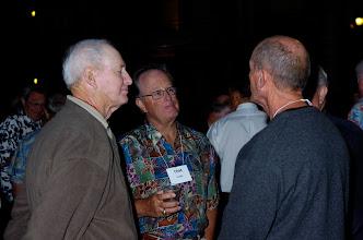 Photo: Richard Leach, Tom Clark, husband of Jean Golisch Clark,  and Bill Eldredge