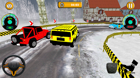 Offroad Jeep - Extreme Mountain Snow Driving APK screenshot thumbnail 2