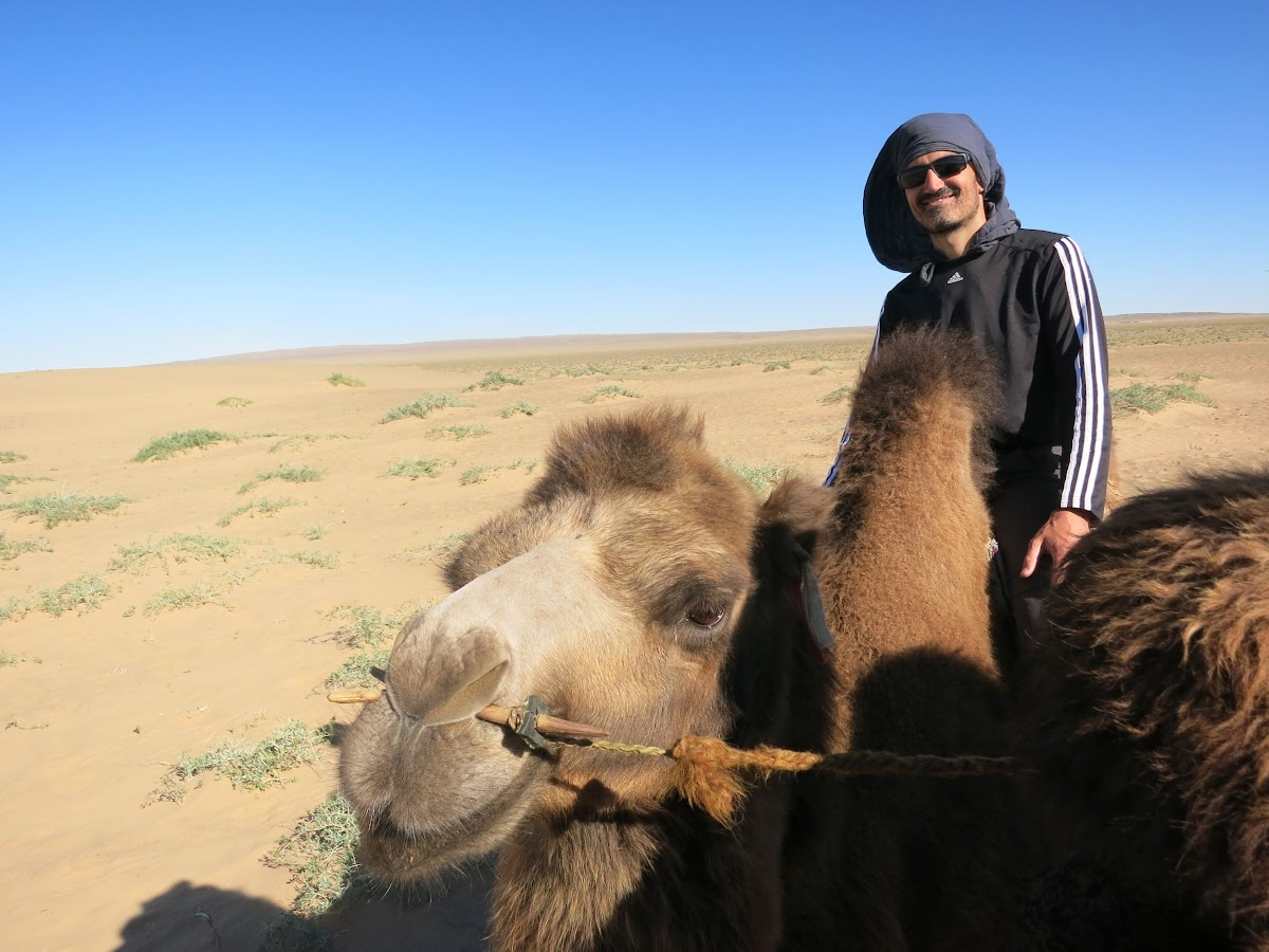 Bruno sur son chameau