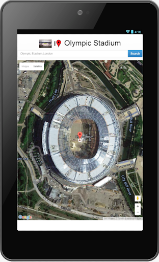 Olympic Stadium map