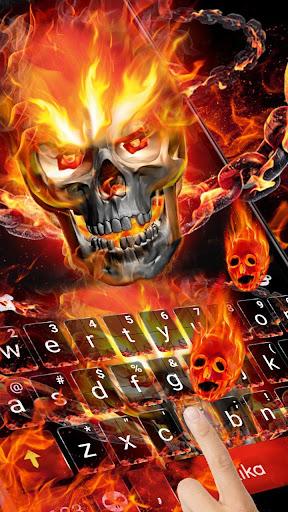 Fireskull Keyboard Theme 1.0 screenshots 1