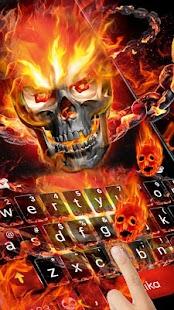 Fire Skull Keyboard Theme - náhled