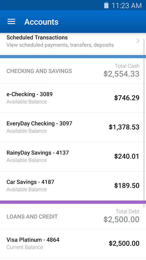Screenshots of Navy Federal Credit Union for Android