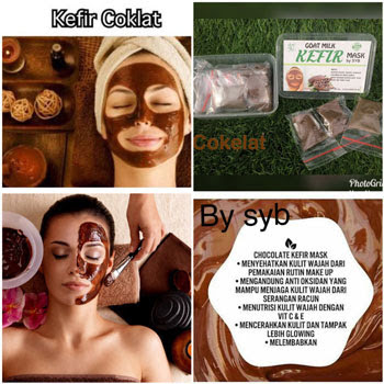 Masker Coklat Bubuk Untuk Wajah Goat Milk Kefir