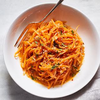 Garlic Butter Sweet Potato Noodles Recipe