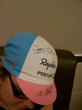 Photo: My awesome Rapha Focus cap signed by Jeremy Powers and Zack McDonald
