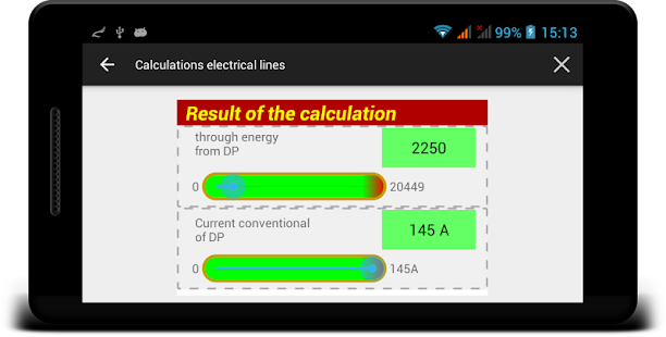 Calculations electrical lines - náhled